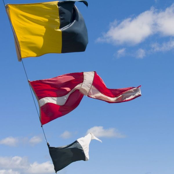 Nautical flags, ship flags