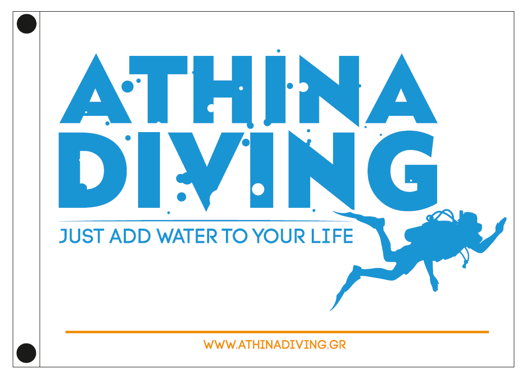 custom company flags 120x90cm for ATHINA DIVING
