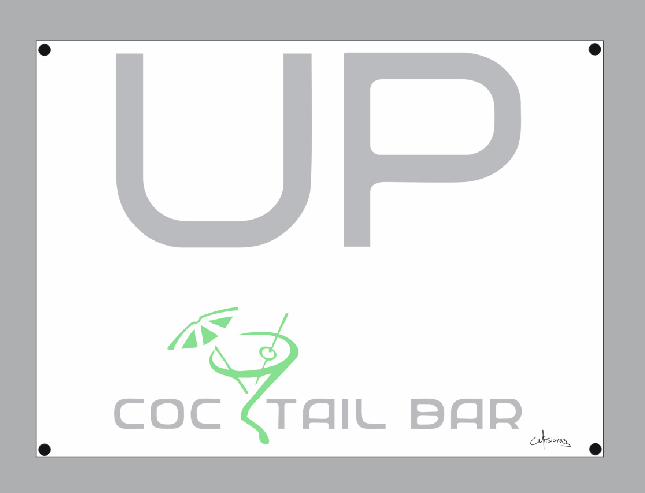 custom advertising flag 150x110cm for UP COCTAIL BAR