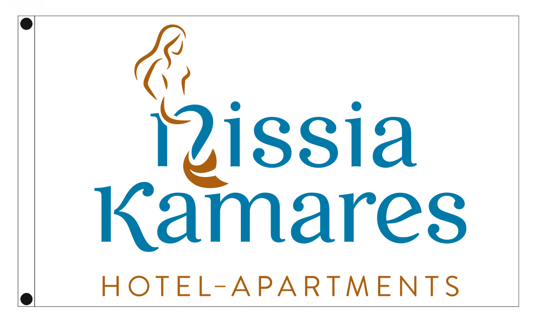 hotel outdoor flags NISSIA KAMARES 200x120cm