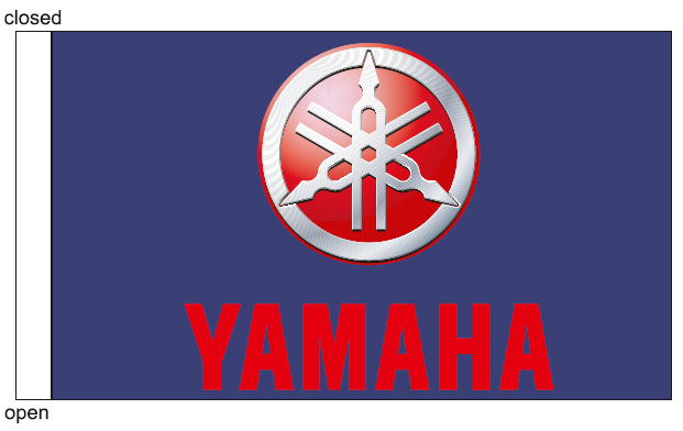 motorcycle flag 26x15cm for YAMAHA
