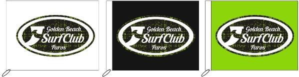 advertising flags 100x80cm for GOLDEN BEACH SURF CLUB