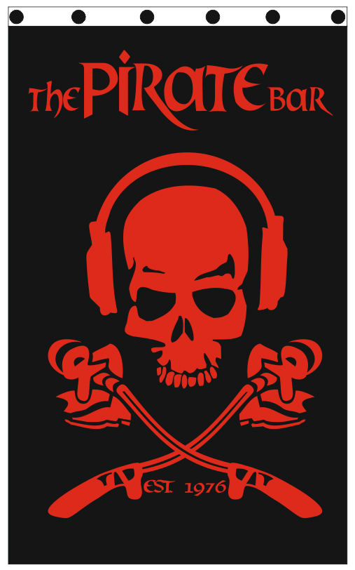 custom printed flags 120x190cm for PIRATE BAR