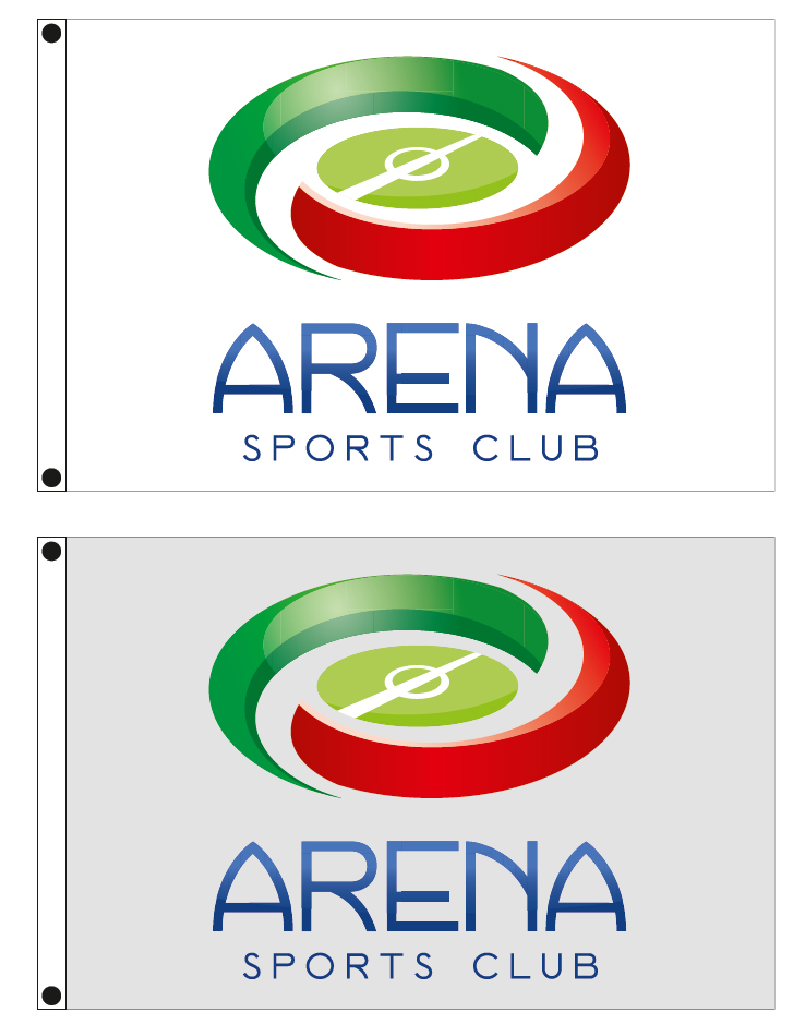 custom company flags 150x100cm for ARENA SPORTS CLUB