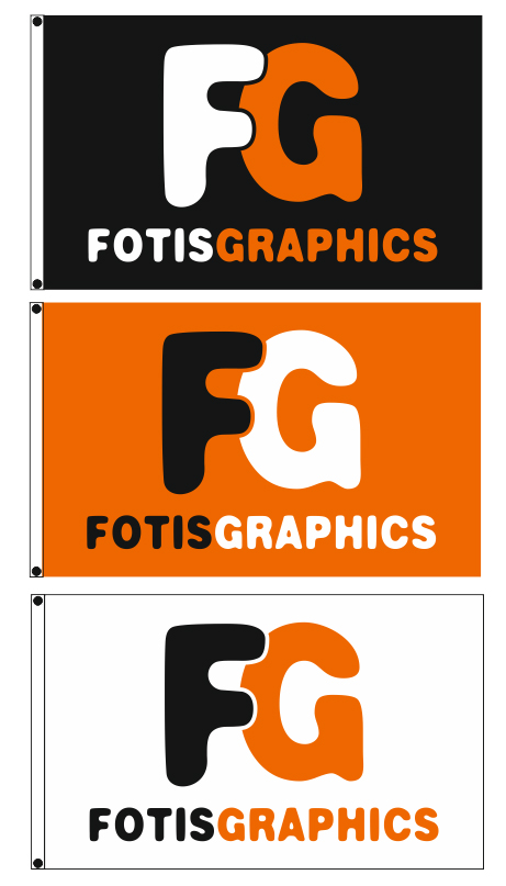 advertising flags 200x125cm for FOTIS GRAPHICS