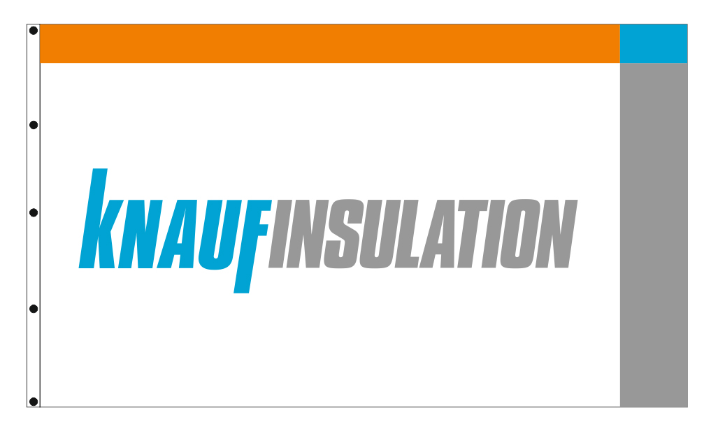 promotional flags 245x145cm for the company KNAUF INSULATION A.E.
