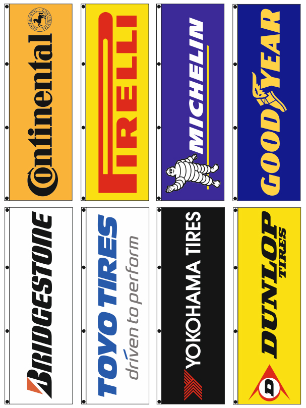 advertising flags 80x250cm