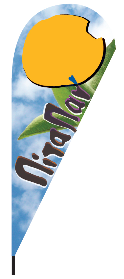 advertise your store with a teardrop flag 110x265cm