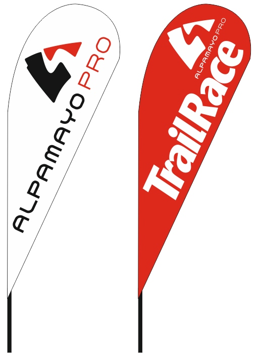 teardrop flags 110x290cm for ALPAMAYO PRO